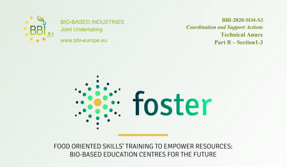 FOSTER – Food oriented skills training to empower resources: bio-based education centers for the future
